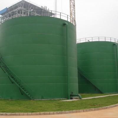 立式圆形碳钢存尿除盐水箱加工